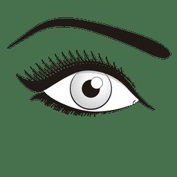 Maquillaje de ojos de mujer
