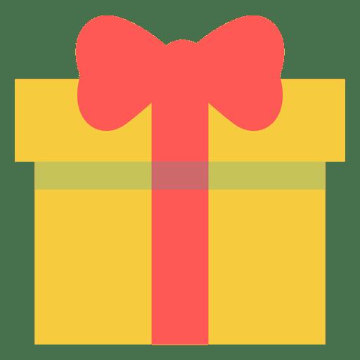 Caixa de presente rosa amarela arco ícone 17 Transparent PNG