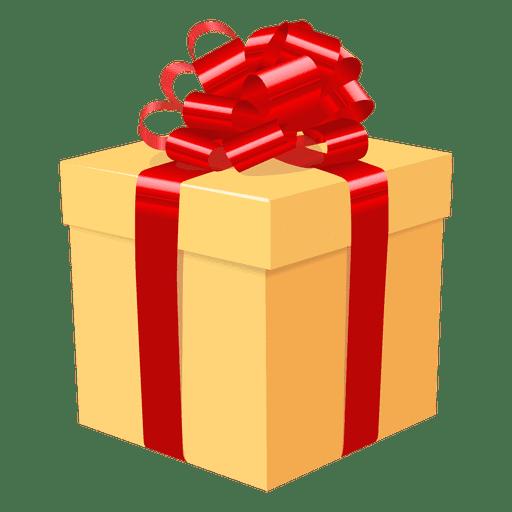 Ícone de laço vermelho de caixa de presente amarelo 3 Transparent PNG