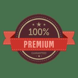 badge prémio de 100 por cento