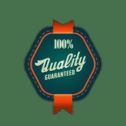 Insignia de calidad del 100 por ciento.