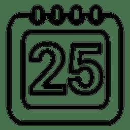 25. Kalendersymbol