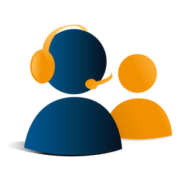 Icono de soporte de contacto 3d