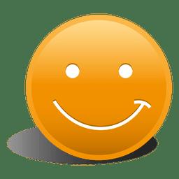 3d orange smile