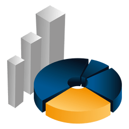 3d piechart bars