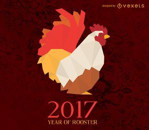 Ano de 2017 de ilustração de horóscopo de galo