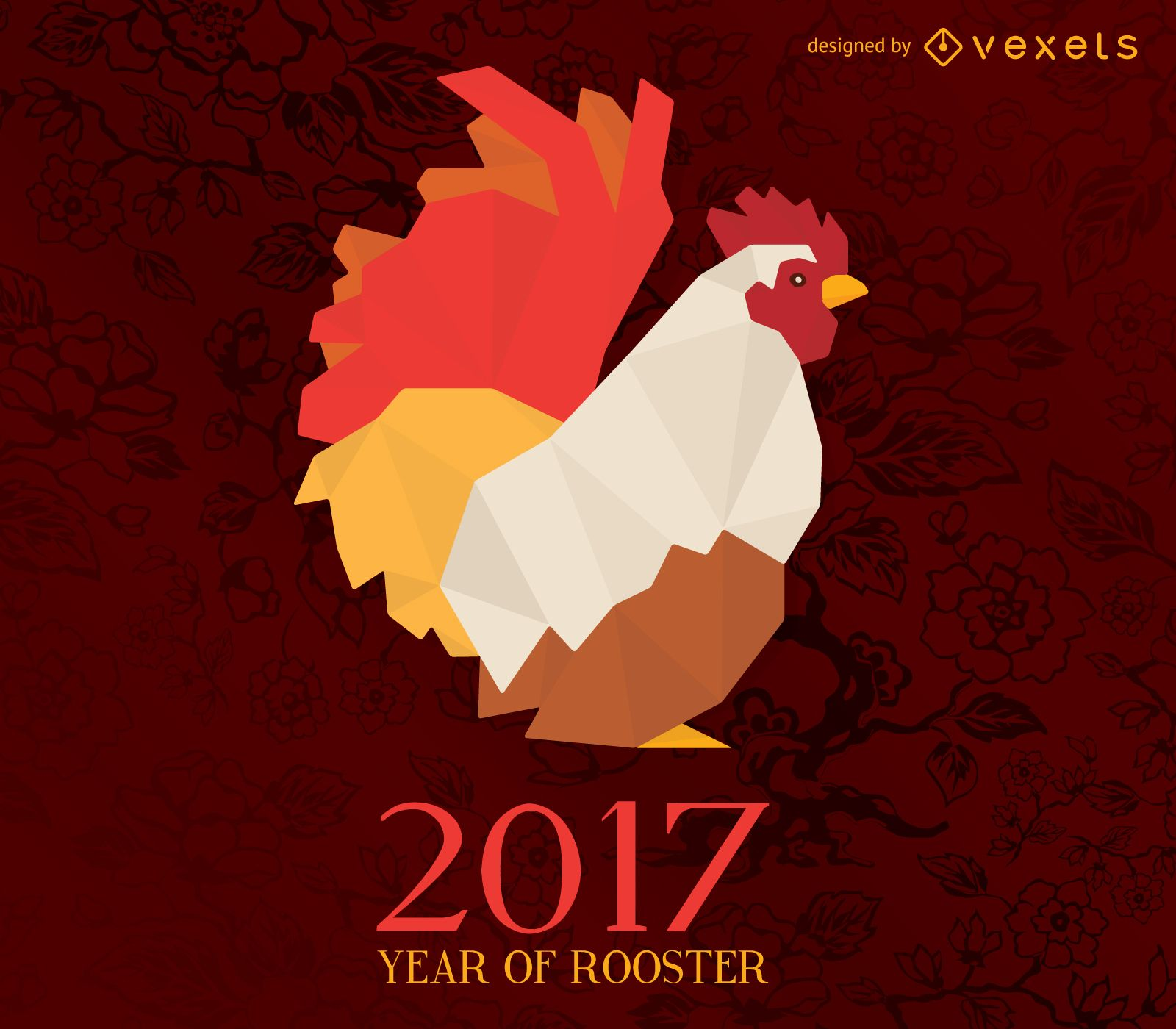 2017 year of rooster horoscope illustration