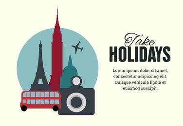 Vacaciones cartel máquina de diseños