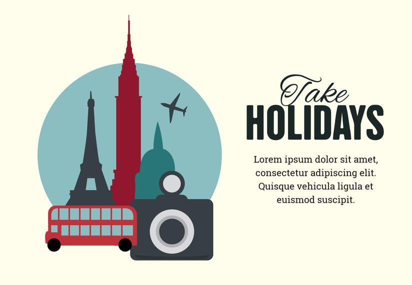Fabricante de design de cartaz de férias