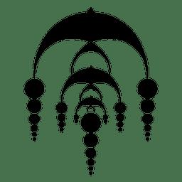 Círculo de colheita em cascata abstrata
