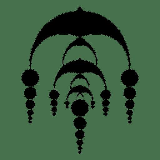 Círculo de cultivo en cascada abstracto Transparent PNG