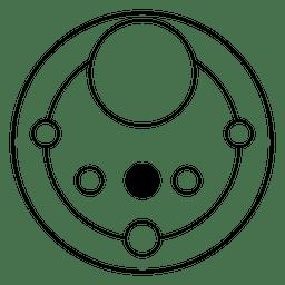 Desenho geométrico de círculos de colheita abstrata