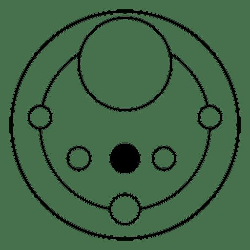 Cultivo abstracto círculos diseño geométrico Transparent PNG