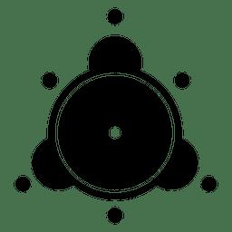 Silhueta de círculo abstrato colheita