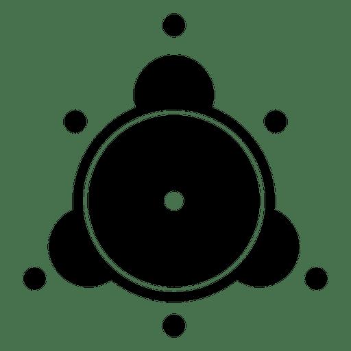 Silhueta de círculo abstrato colheita Transparent PNG