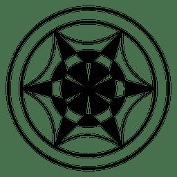 Círculo de colheita de roda abstrata