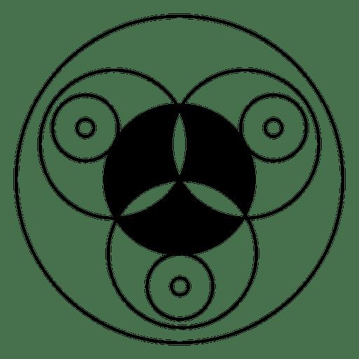 Diseño de círculo de cultivo en blanco y negro