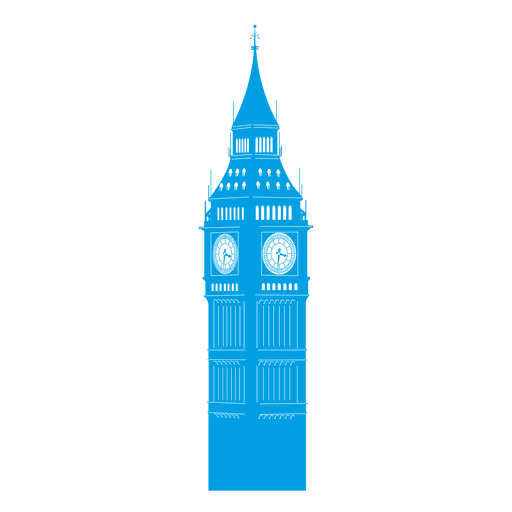Big ben skyline Transparent PNG