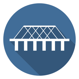 Bridge circle icon 05