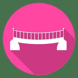 Ícone do círculo Ponte 06