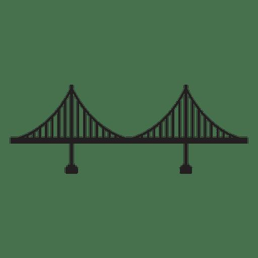 Icono de trazo de puente 10