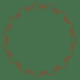 Marco circular con delicados adornos florales.