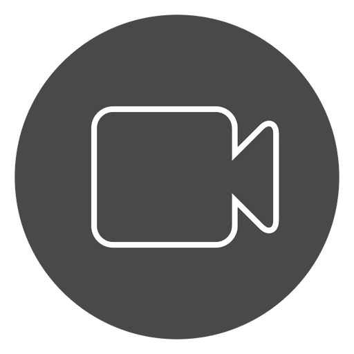 Camera on button circle icon Transparent PNG