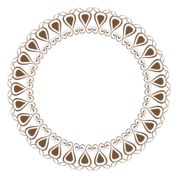 Marco circular con adornos