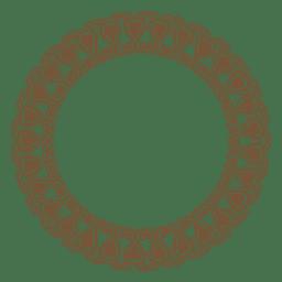 Marco de círculo con adornos.