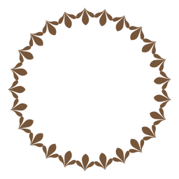 Circle frame with flowers