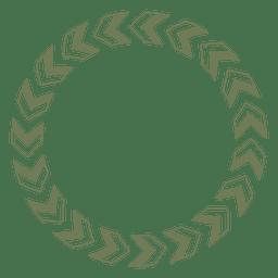 Marco de círculo con flechas