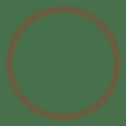 Marco de adorno de círculo