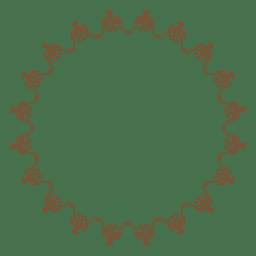 Dekorativer Kreisrahmen