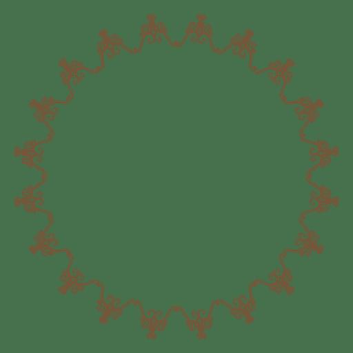 Marco de círculo decorativo