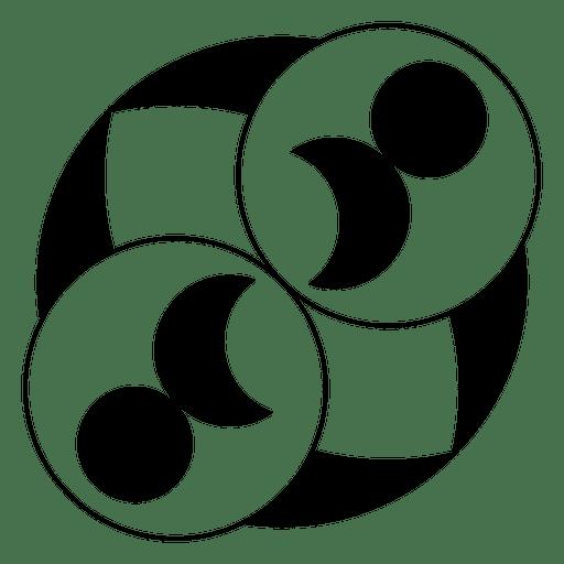 Círculos y círculo de cultivo de luna