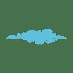 Nuvem mão desenhada caneta de feltro 02