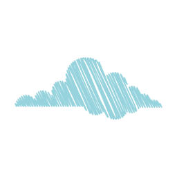 Mão de nuvem desenhada caneta de feltro 05
