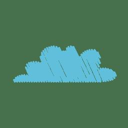 Mão de nuvem desenhada caneta de feltro 07