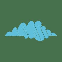 Nuvem mão desenhada caneta de feltro 09