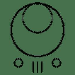 Formas de círculos concêntricos