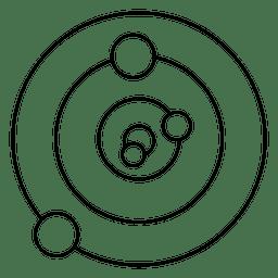 Círculos cortados concêntricos