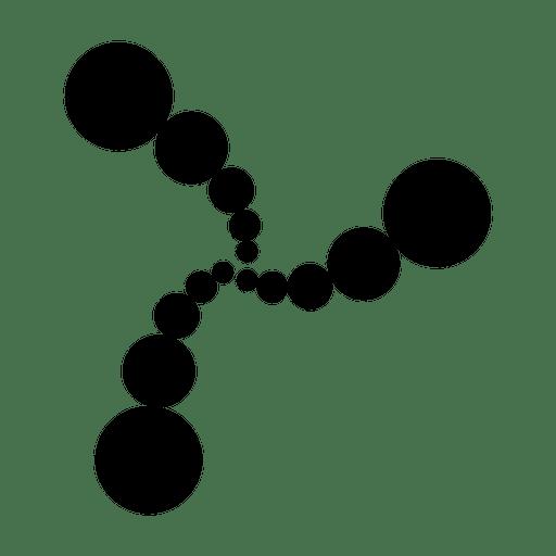 Líneas concéntricas hechas de cirlces. Transparent PNG