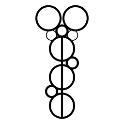 Círculos de colheita alinhados com contorno