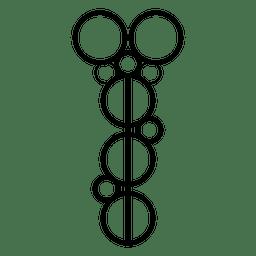 Cultivos circulares contorno alineados