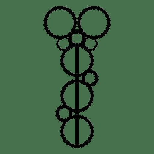 Crop circles contour aligned Transparent PNG