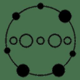 Círculo Crop feito de pequenos cirlces