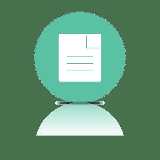 Icono de sombra de archivo de documento
