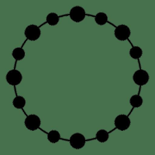 Círculo cortado pontilhado Transparent PNG