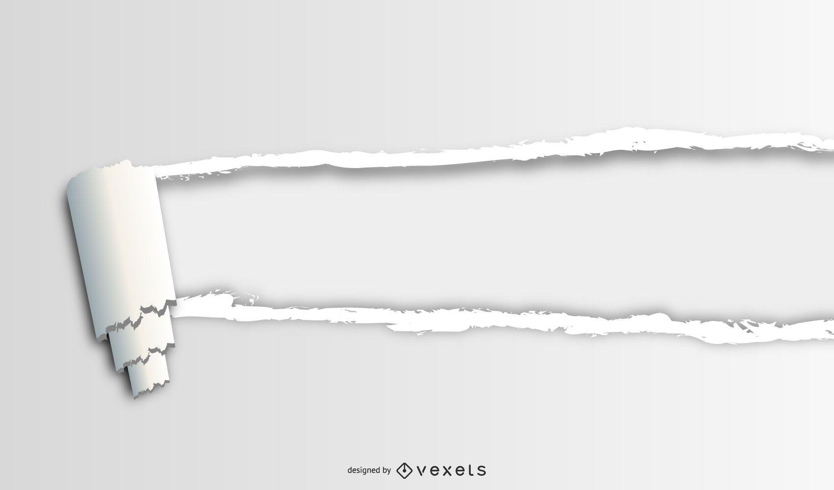 Simple paper tear Design