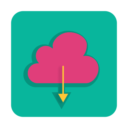Download from cloud sign with background Transparent PNG